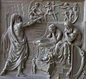 Paris. Relief from Madeleine Church. Prophet and King Ahab. 1837 by Triqueti.